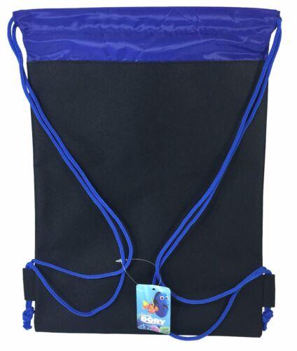 Disney Finding Dory Black Drawstring Bag School Backpack