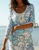 Lilly Pulitzer Sarah Beaded Tunic Dress Spa Blue Shape Up Ship Out Xs S M L