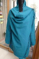 NWT Petrol deer poncho wrap blue teal turquoise shawl cape sweater jacket coat L