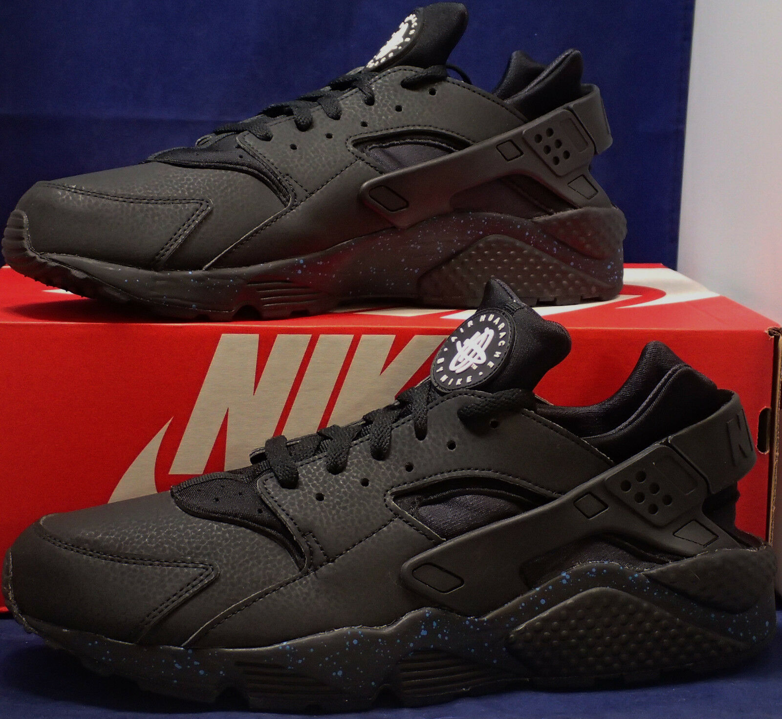 Nike air huarache lauf id schwarz blau sz 12 12 12 (777330-903) fc2b85