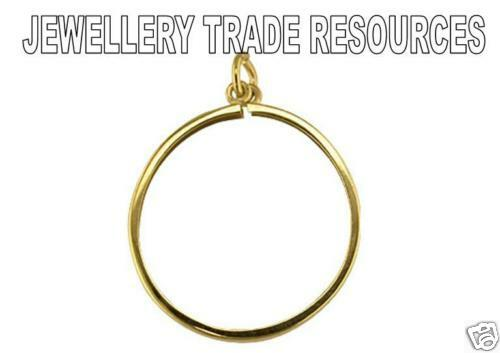 HALF SOVEREIGN 9ct YELLOW GOLD PENDANT COIN MOUNT 1//2
