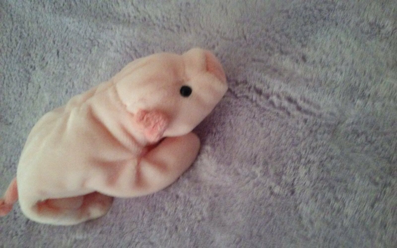 Squealer the Pig ORIGINAL Ty Beanie Baby 1993 PVC pellets   Numerical DOB