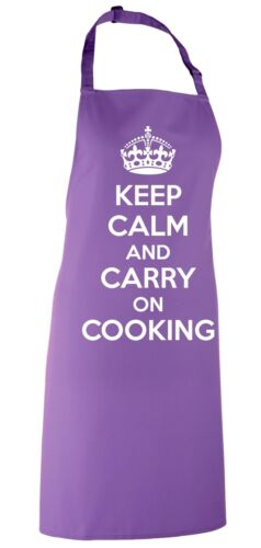 Keep Calm And Carry On Cucinare Grembiule Novità Bavaglino Funny Cucina Regalo Chef Cuoco