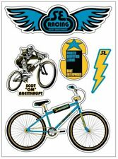BIG RIPPER BMX DECAL STICKER SET -OFFICIALLY LICENSED NEW GOLD SE RACING