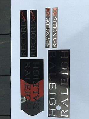 """RALEIGH /""""Record SPRINT/"""" decal set"""