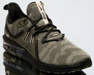 Nike Air Max Sequent 3 Premium Camo Men New Olive Running Shoes ... 360964c7c