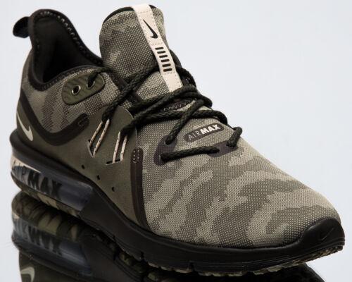 Nike Air Max Sequent 3 Premium Camo Men New Olive Running
