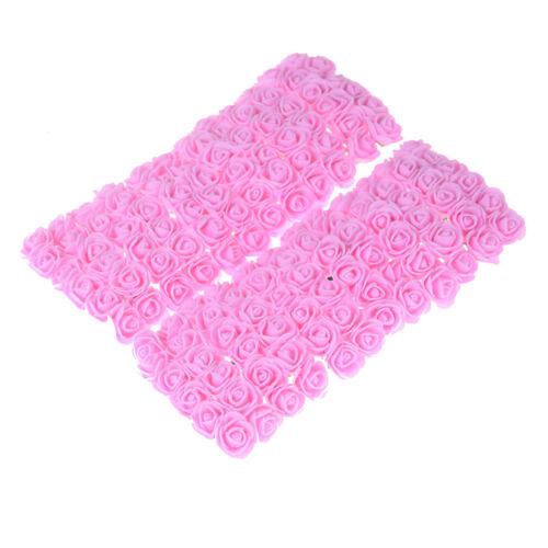 144Pcs//lot Mini Foam Rose Artificial Flower Bouquet Wedding Party Craft Decor JH