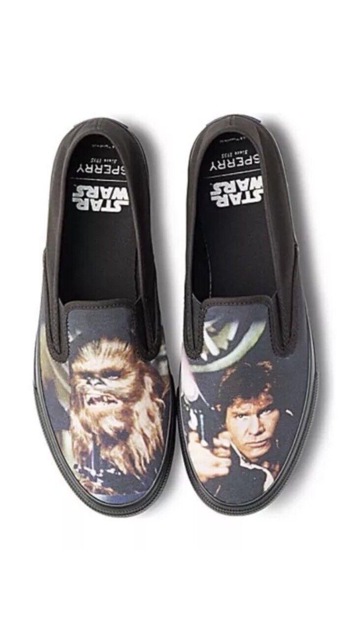 New! Sperry Star Wars Cloud Han Solo Chewbacca Nero Nero Nero Slip-on Shoes Size 9 c1e103