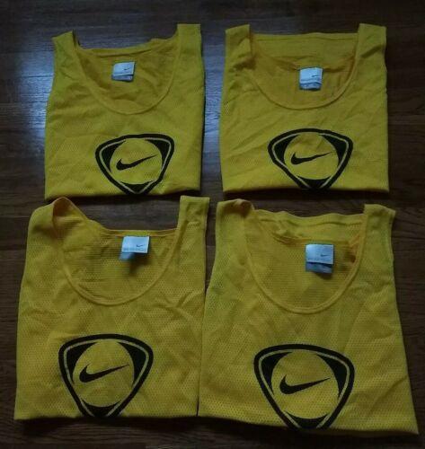 4 PC LOT NIKE BASKETBALL Jerseys Yellow Black Slee