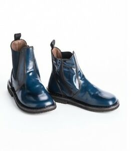 new-girls-PePe-City-Blue-Short-Boots-shoes-24-us-8-leather-made-in-Italy
