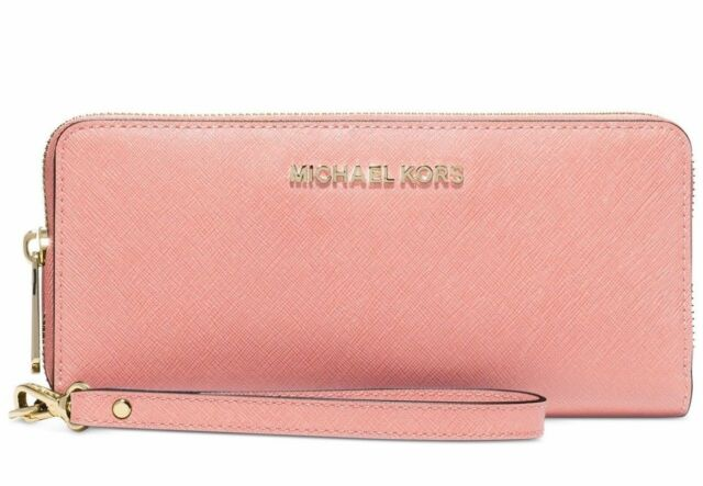 3f63c9855411 Michael Kors Jet Set Travel CONTINENTAL Wallet Pale Pink 32s5gtve9l ...