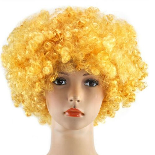 70/'S Curly Fancy Dress Funky Afro Hair Wigs Disco Clown Boy//Girl Cosplay Costume