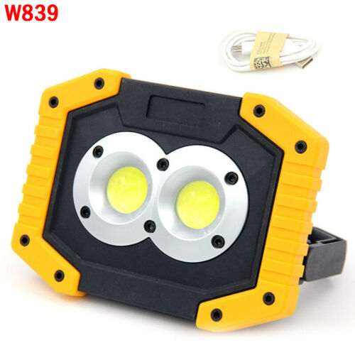 30W LED COB Flashlight Work Light Rechargeable Searchlight Flood Lamp Camping .