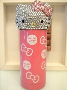 Bling Hello Kitty Crystal Diamond Stainless Steel Vacuum Flask Thermos 360ML!