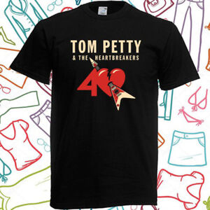 a3340715ccc5 Tom Petty 40th Anniversary Tour Mens Black T-Shirt Size S to 3XL
