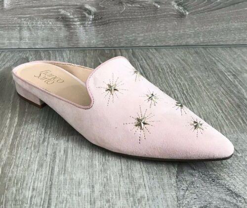 NIB $89 Franco Sarto Samanta Starburst Mules Light Pink