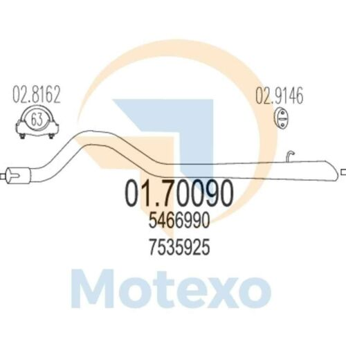 MTS 01.70090 Genuine New Exhaust with 2 year warranty