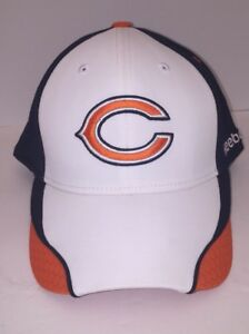 6d5949ee Details about Chicago Bears 12th Man Official NFL Player Sideline Reebok  Hat Cap Lid White S/M