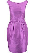 New Luisa Spagnoli Presidio purple silk Dress IT42   RRP 298€