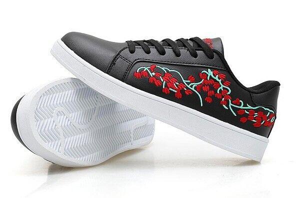 zapatillas deportivas zapatillas mujer suela negro flores gimnasia cómodo CW846