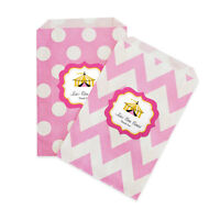Pink Circus Personalized Birthday Party Favor Goodie Bags - Lot Of 36