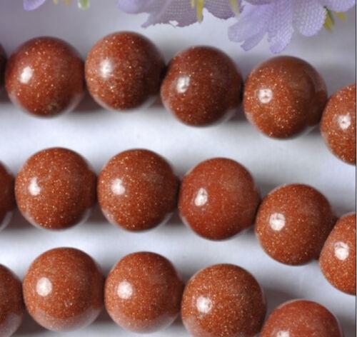 20pcs Round ball Gold Sand Gemstone Loose Beads SH428