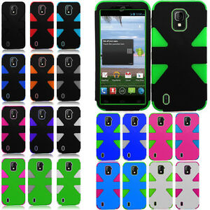 ZTE-Majesty-796C-IMPACT-TUFF-HYBRID-Protector-Case-Skin-Phone-Covers-Accessory