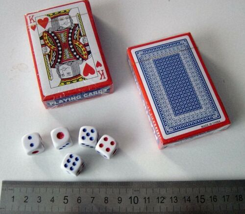 /& 5 Dice 2 packs NEW playing cards sealed 14mm cube plastic coated