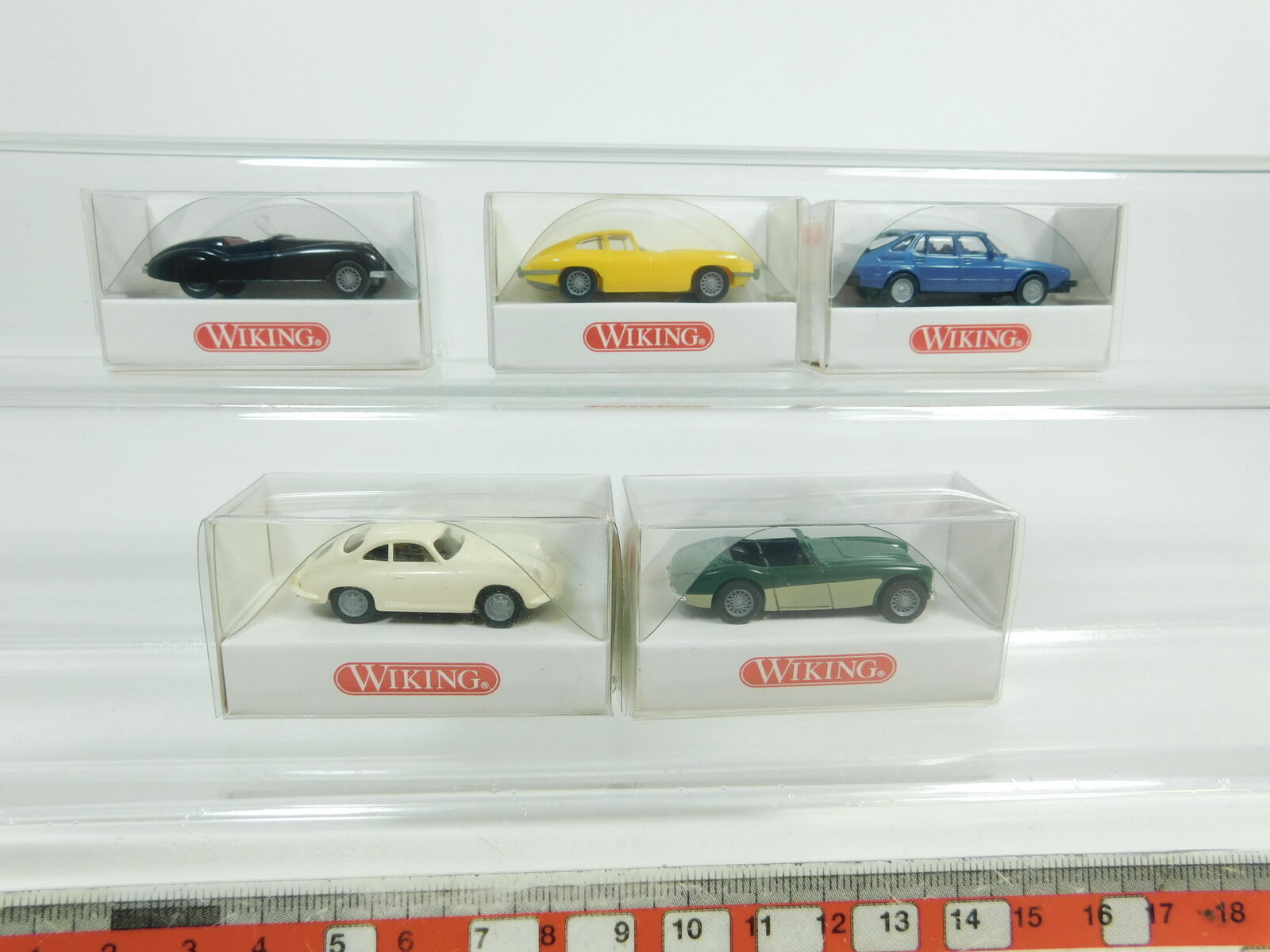 Bd415-0,5 x Wiking H0   1 87 Car  215 +816 Austin +803 +814 Porsche + 801,NIP