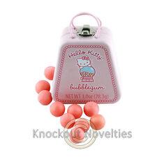 Hello Kitty Bubblegum Tin Container Hard Candies Pink Balls Purse Shaped Gum