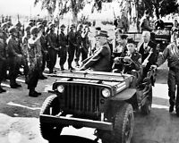 8x10 World War Ii Photo: Franklin D. Roosevelt Reviews Troops In Casablanca