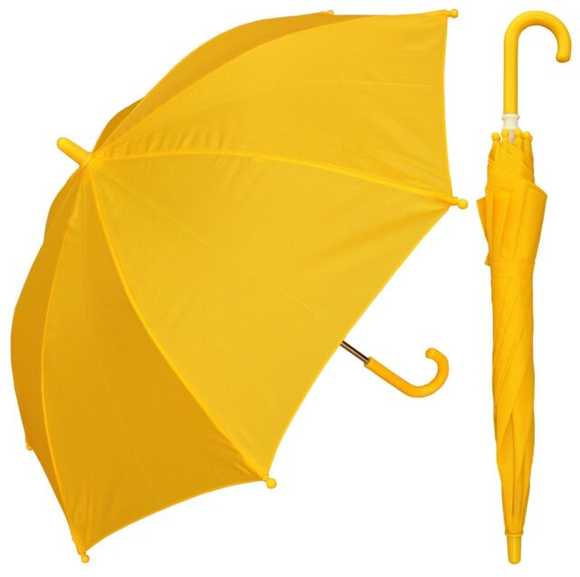 "RainStoppers Rain//Sun UV Costume 32/"" Arc Children Kid Solid Color Umbrella"