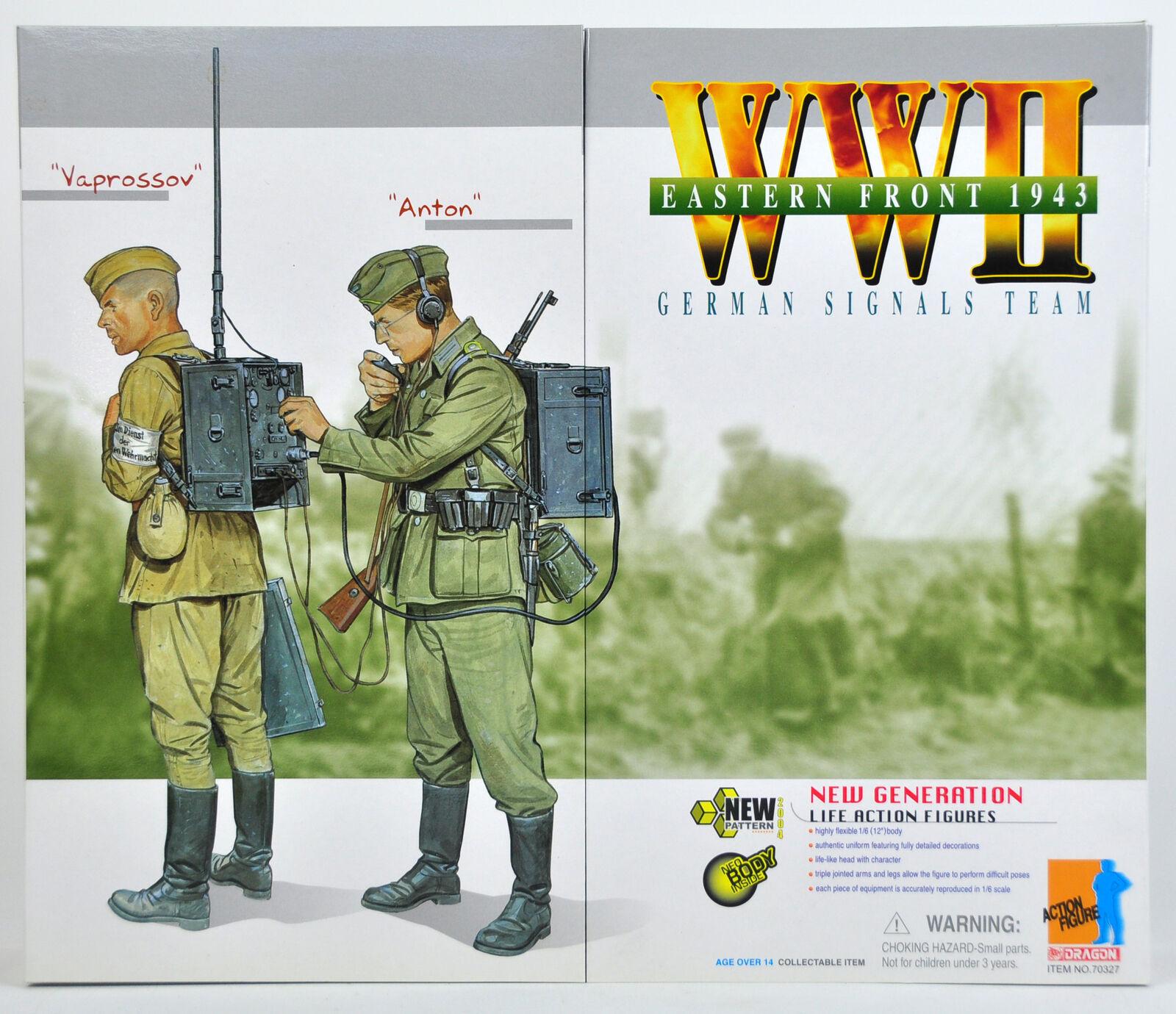 drake Action Figur WWII tyska signaler Team 1 6 skala 32707 Radio Dubbeluppsättning