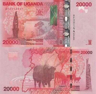 1000 to 10000 Shillings Uganda 4 Note Set 2017 p49 to p52 UNC
