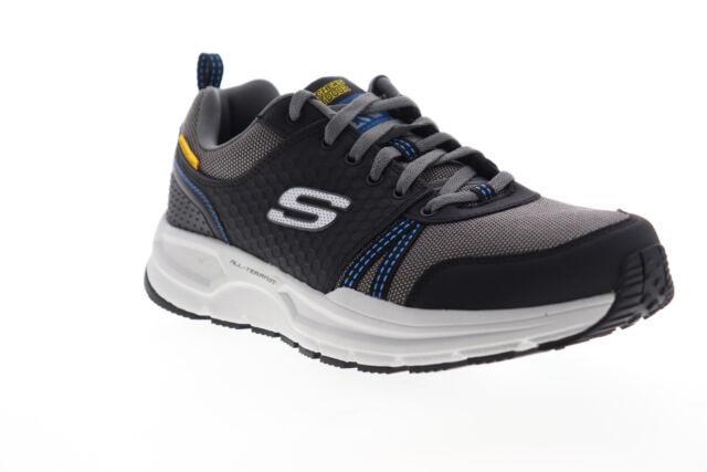 Skechers Escape Plan 2.0 Lochridge Mens Black Wide Low Top Sneakers Shoes 9.5