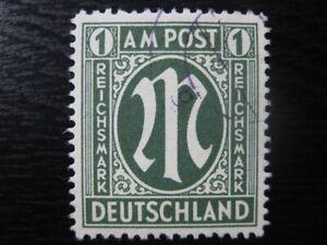 GERMANY OCCUPATION ZONES Mi. #35 scarce used AMG stamp! CV $660.00