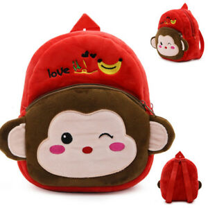 476382c9449 Image is loading Boys-Girls-Kids-Nursery-Toddler-Animals-Monkey-Bag-