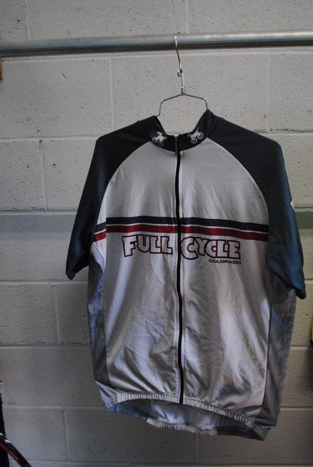 VERGE Sport Da Uomo Personalizzato CICLO COMPLETO squadra Coloreeado Ciclismo Jersey Grigio Gree USATO