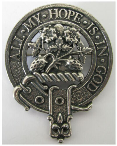Premium SCOTTISH Clan Crest Badge//Brooch Clans A-L Robust /& Quality made in UK