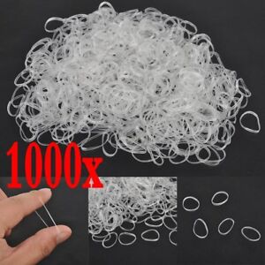 1000pcs-Clear-Ponytail-Holder-Elastic-Rubber-Band-Hair-Ties-Ropes-Rings