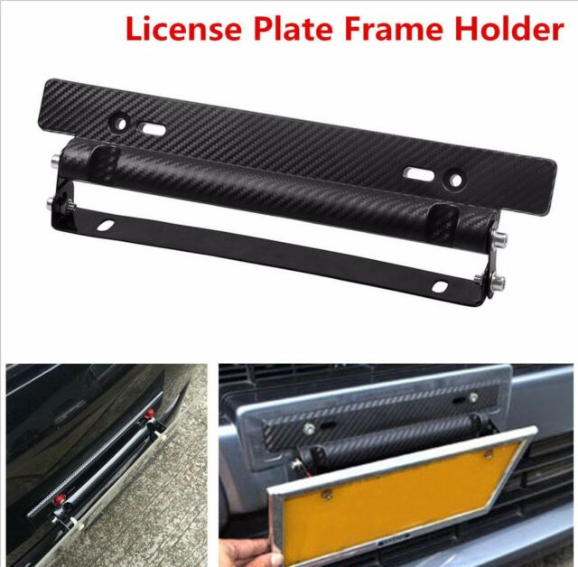 Universal Car Carbon Fiber Number License Plate Frame Holder Bracket Adjustable & Universal Car Carbon Fiber Number License Plate Frame Holder Bracket ...