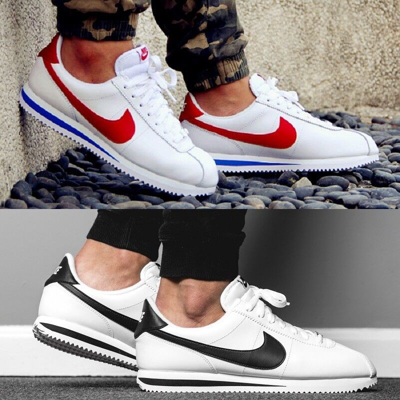 Nike Cortez Basic Leather Comfy Sneaker Men's Lifestyle Casual Shoes