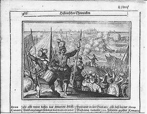 Antique-map-Siege-of-Ostende-1603-AD