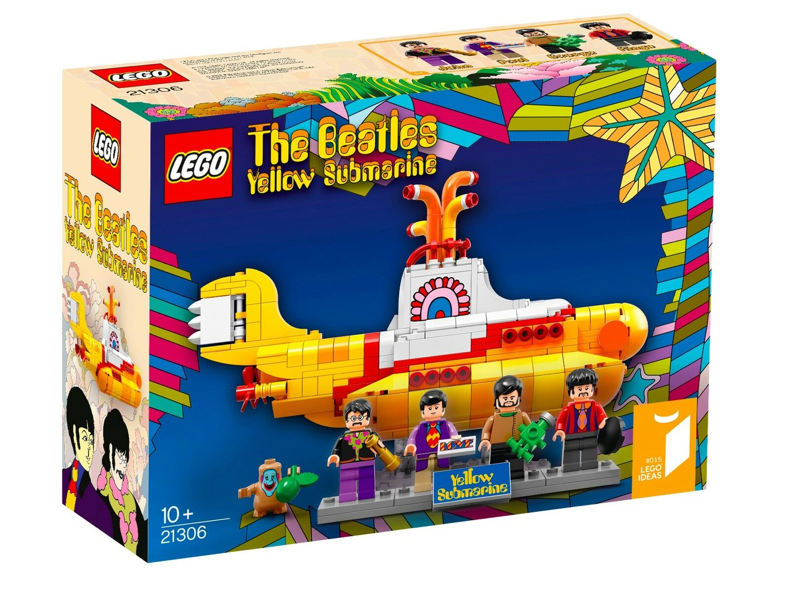 LEGO 21306 Retired THE BEATLES YELLOW YELLOW YELLOW SUBMARINE SET 553PCS W  MINIFIGS Sealed 523d92