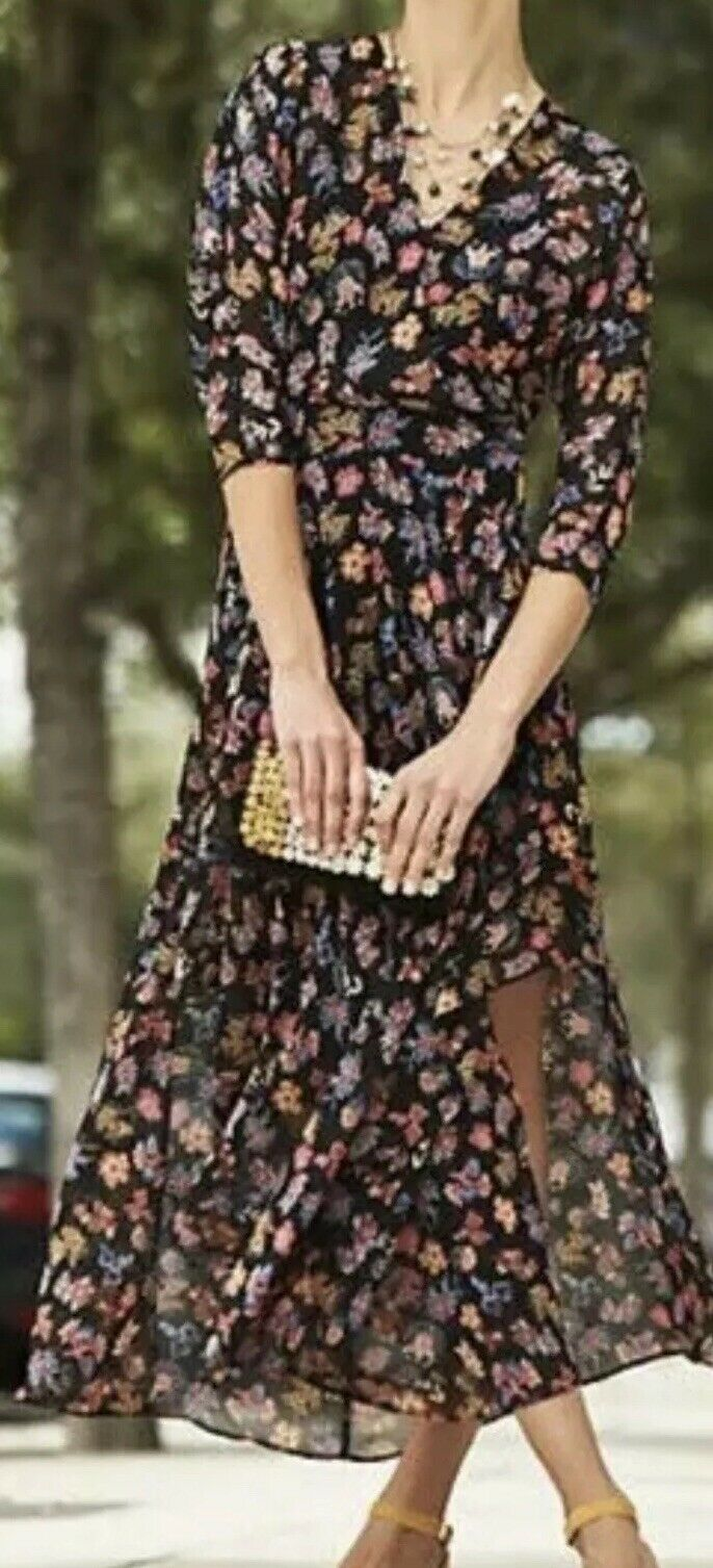 6. Anthropologie HD in Paris Varina Floral Maxi Dress Size 6 Worn For 2 Hrs