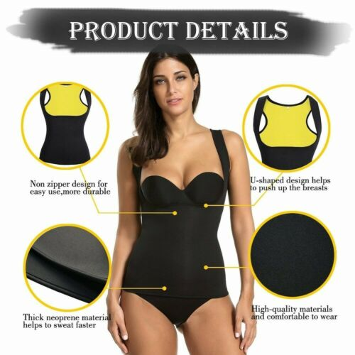 Women Sweat Sauna Body Shaper Control Slim Vest Thermo Weight Loss Waist Trainer