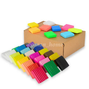 24-36Pcs-DIY-Craft-Malleable-Fimo-Polymer-Modelling-Soft-Clay-Block-Plasticine