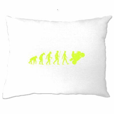 Biking Pillow Case Evolution Of A Motorbike Neon Yellow Bike Racing Road Track | eBay