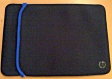 "HP Official Black Laptop Soft Sleeve Case Bag Pouch 15"" Dell Acer Sony Toshiba"